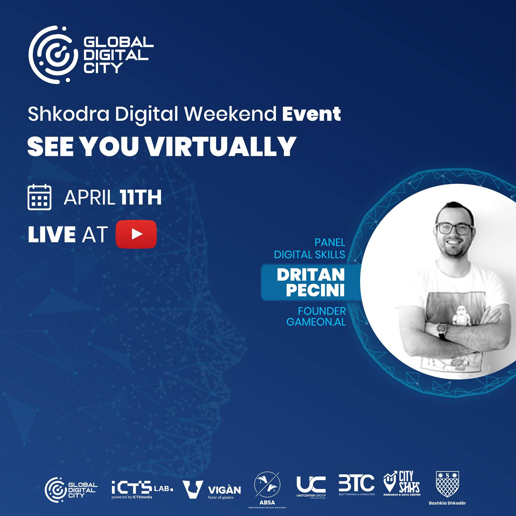 Dritan Pecini gameon shkodra digital weekend