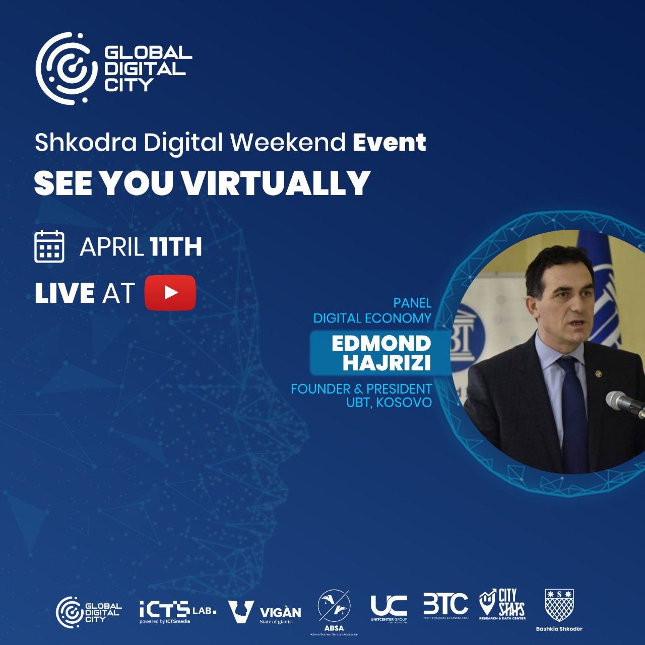 Edmond Hajrizi UBT Kosove Shkodra Digital Weekend