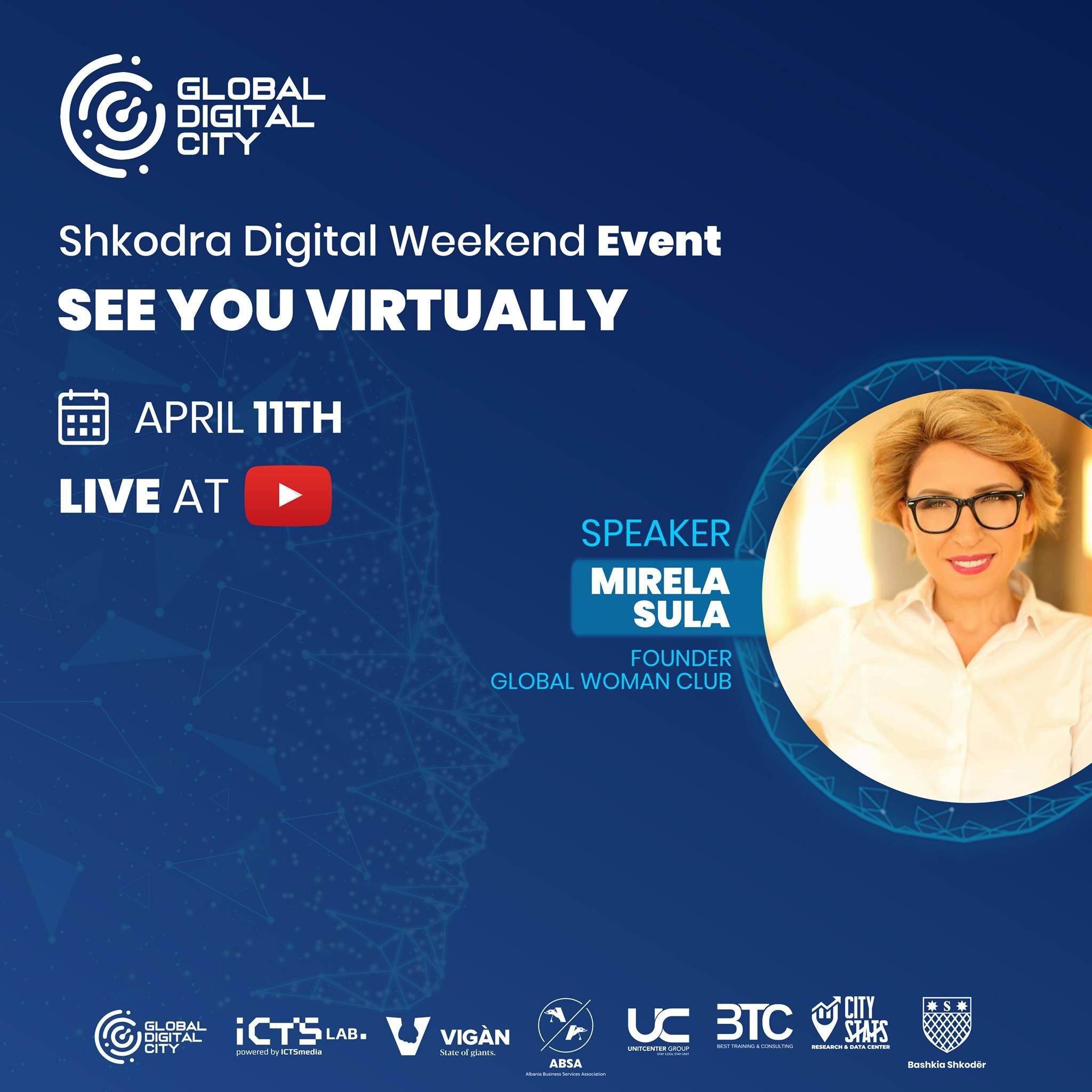 Mirela Sula Global Woman Shkodra Digital Weekend