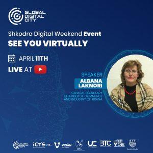 Albana Laknori dhoma e bzinesve dhe industrise tirane digital event global digital city