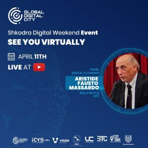 Aristide Fausto Massardo Rolls Royce UTC Digital Event Global Digital City Albania