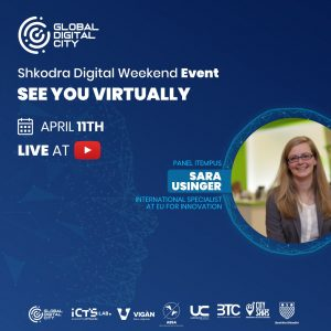 Sara Usinger EU for Innovation Digital Event Global Digital City Albania